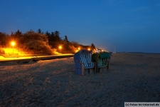 Strand, blaue Stunde