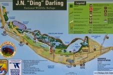 Ding Darling National Wildlife Refuge Karte