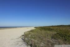 Strand in Florida auf Sanibel Island (Bowman's Beach)