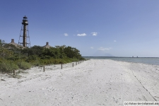 Strand am Leuchtturm (Lighthouse Beach Park) auf Sanibel Island.