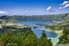 Azoren Cete Cidades Panorama Bild