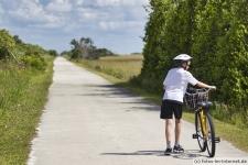 Fahrradtour auf dem Rundweg im Shark Valley in Florida