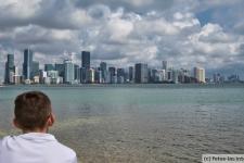 Blick auf die Skyline von Miami