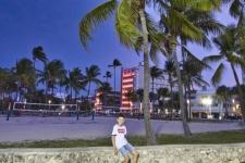 Boardwalk in Miami Beach, South Beach Art Deco Viertel