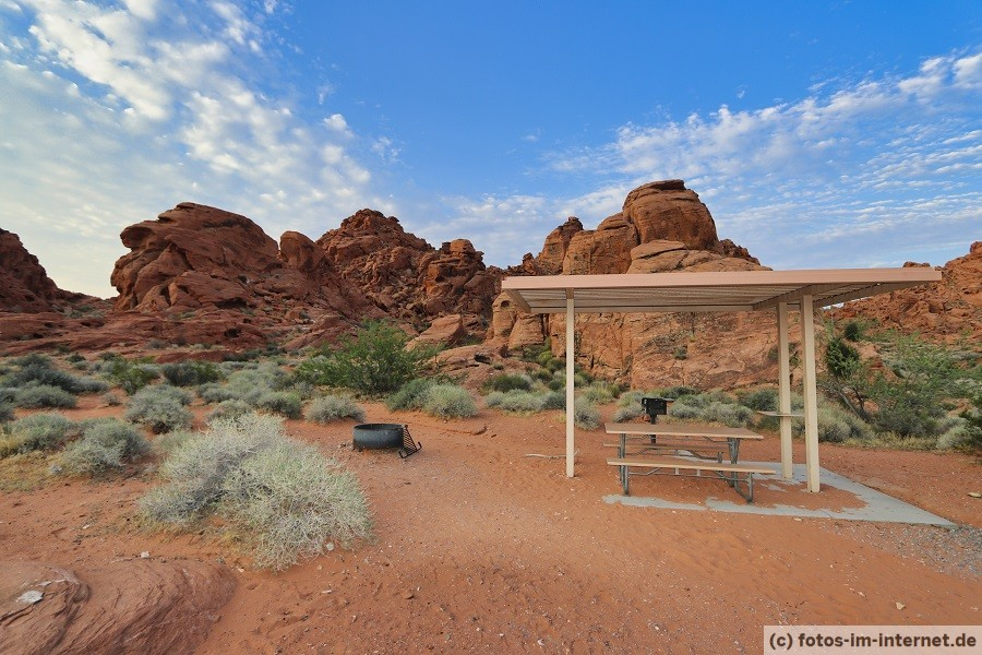 Atlatl Rock Campground im Valley of Fire State Park