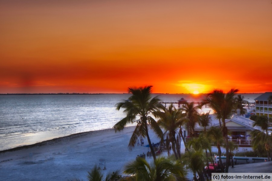Sonnenuntergang in Fort Myers Beach, Lani Kai Island Resort