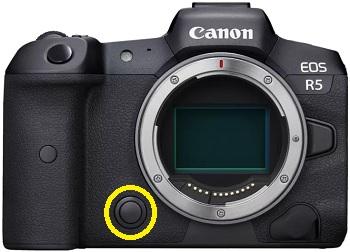 Canon EOS R5 Wildlife Fotografie Einstellungen - Schärfentiefe Prüftaste.