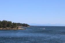 Ausblick von der Fähre nach Vancouver Island