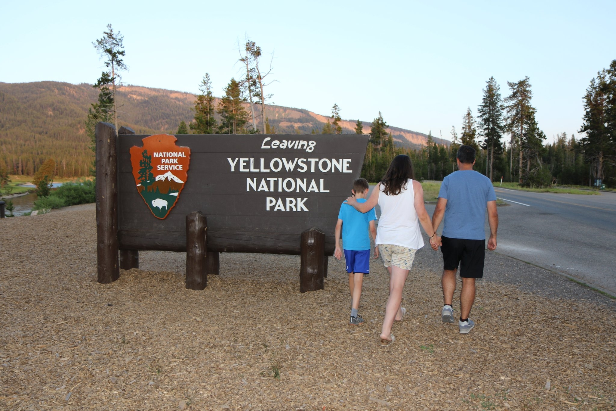 Yellowstone Nationalpark Ausgang
